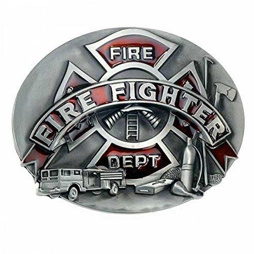 Buckle Firefighter, Fire Department, USA, Feuerwehr, - Firefighter Gürtelschnalle