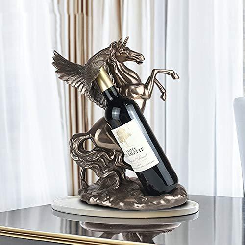 GAL Exquisite Europäischen Pegasus Stil Weinregale Desktop