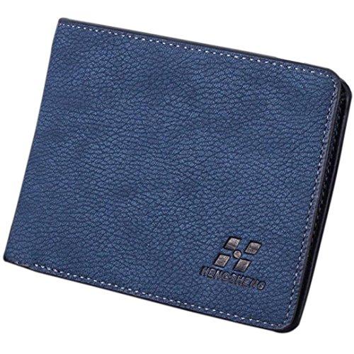 Sansee Männer Geschäft Bifold Ledergeldbörse (Weiß) Blau