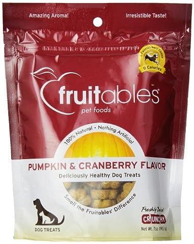 Fruitables Nutritional Pumpkin Based Dog Treats 7 oz Packet PUMPKIN CRANBERRY