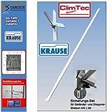 Krause ClimTec Alu Fahrgerüste Geländerstrebe mit Sicherungs-Set 712806