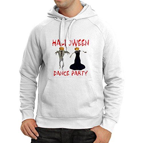 lepni.me Sudadera con Capucha Disfraces Fiesta de Danza de Halloween Eventos Traje Ideas (Medium Blanco