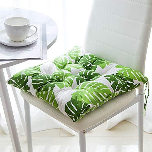 GLITZFAS Juego de 4 Cojines de Asiento 40 x 40 cm, Cojines para sillas de jardín, balcón, terraza...