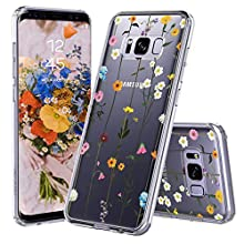MOSNOVO Galaxy S8 Plus Case, Wildflower Floral Printed Flower Pattern Clear Design Transparent Plastic Hard Back Case with TPU Bumper Protective Case Cover for Samsung Galaxy S8 Plus