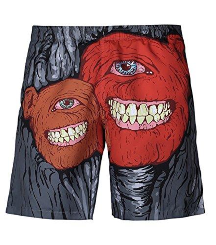 NiSeng Hommes Impression Boardshorts Casual Casual Shorts De Plage Maillot De Bain Surf Shorts 3#S07