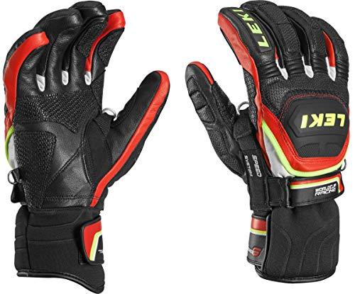 Leki Worldcup Race Flex S Speed System Ski Handschuhe, Schwarz 7.5 Rot -