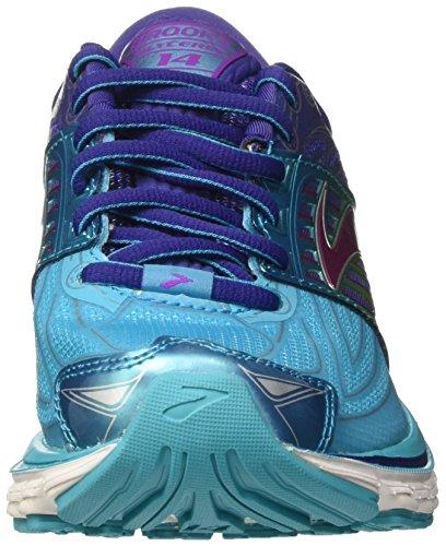 Brooks Glycerin 14 W, Scarpe da Corsa Donna Scubablue/Navyblue/PurpleCactusflower