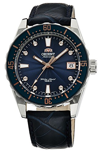 ORIENT Automatic Sports 100M Superior Ladies Watch Blue Guilloche Dial FAC0A004D
