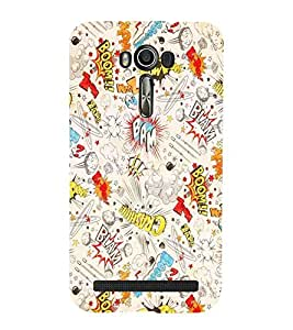 For Asus Zenfone 2 Laser ZE500KL (5 INCHES) boom blam bam, good qutoes, nice quotes, pattern, nice pattern Designer Printed High Quality Smooth Matte Protective Mobile Pouch Back Case Cover by BUZZWORLD