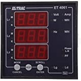 ELTRAC - Basic Multi Function Meter / Multi Data Meter With RS 485 PORT, 9.6 cm x 9.6 cm x 5.2 cm, Class 1.0 Accuracy
