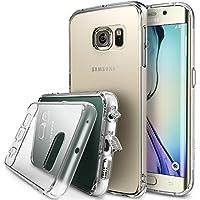 Funda Galaxy S6 Edge, Ringke [FUSION] Choque Absorcin TPU Parachoques [Choque Tecnologa Absorcin][Conviviente tapn antipolvo] para Samsung Galaxy S6edge - Clear