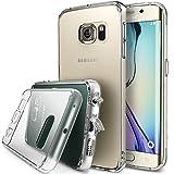 Galaxy S6 Edge Coque - Ringke FUSION ***Tous les Nouveaux Capuchon Anti-Poussière & Chute Protection*** [CRYSTAL VIEW] Crystal Clair Panneau de Dos Absorption des Chocs Pare-Chocs dur étui avec Gratuitement Arrière Film pour Samsung Galaxy S6 Edge - Eco/DIY Paquete