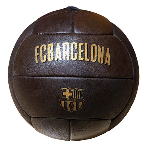 Balón Fútbol Club Barcelona retro vintage.Tamaño similar al balón reglamentario.Producto oficial del FCB