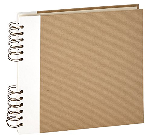 Panodia 271307 Album Photos ESKIS Kraft ET Blanc Pages, Papier, 3 x 25,7 x 23,2 cm