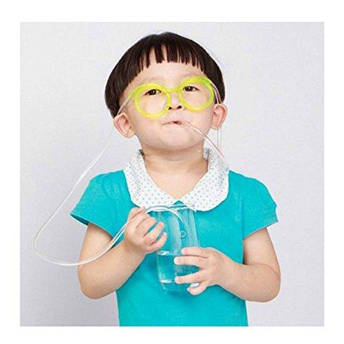 MAXGOODS 5 Stk Trinkende einzigartige Flexible Neuheit Brille Gläser Trinkhalm Glas - Zufällige Farbe