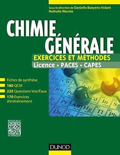 Chimie générale - Exercices et méthodes par Danielle Baeyens-Volant