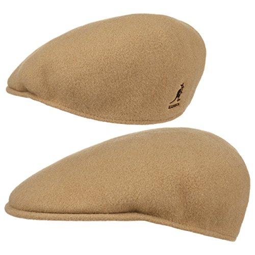Kangol Herren Damen Mütze Schirmmütze Flatcap Original 504 | Schlägermütze mit Kultstatus 0258BC Schirmmütze Mütze (S/54-55 - camel)