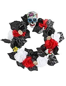 Atosa 39022 - Decoración Halloween Unisex - Adulto Negro/Blanco/Rojo