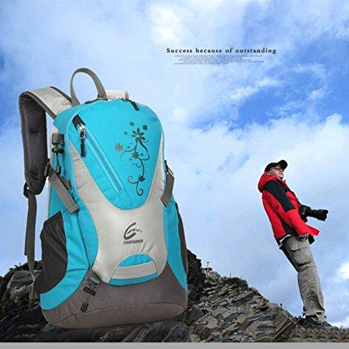 Erweiterte 30L Bergsteigen Rucksack Tasche authentische Outdoor-Reiten wasserdichte Wanderrucksack Blau