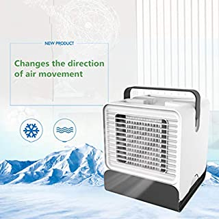 ASCENDAS Personal Space Air Conditioner, 4 in 1 Mini USB Personal Space Air Cooler, Humidifier, Purifier, Desktop Cooling Fan for Office Household Outdoors (White)