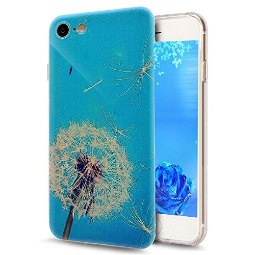 iPhone 7 Plus Hard Case Hülle,iPhone 7 Plus Glitzer Hülle,iPhone 7 Plus Transparent Hülle,iPhone 7 Plus Crystal Clear Case Hülle Klare Cristall Liquid Bling Schutzhülle Etui für iPhone 7 Plus 5.5 Zoll Dandelion Lover 2
