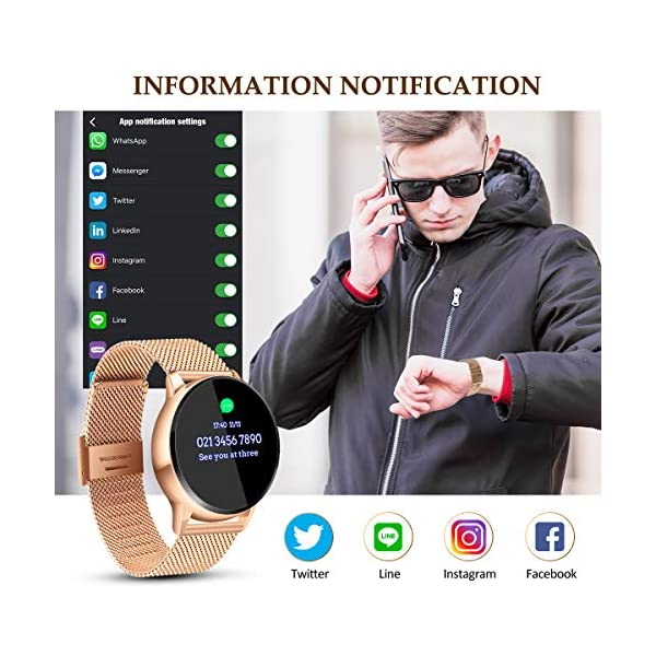 EIVOTOR Smart Watch Sport Fitness Activity Tracker Pulsera Pantalla conectada Touch Podometer Climate Alarm Clock para… 3