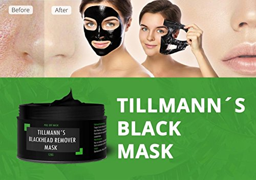 Tillmann\'s Masque noir anti points noirs - Grand Pot 120gr - 100% Naturel - Black mask - Instructions en Francais