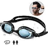synmixx Schwimmbrillen mit UV-Schutz Anti Nebel Verstellbar Gurt Komfort Freizeit Profi Schwimmbrillen für