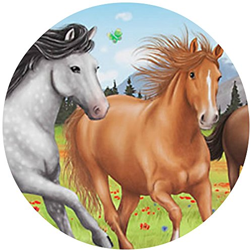 Tortenaufleger Tortenfoto Aufleger Foto Bild Horses Dream Pferd (2) rund ca. 20 cm *NEU*OVP*