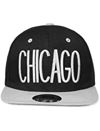 Original Snapback (one size, Chicago City Schwarz / Grau) + Original MY CHICOS Sticker