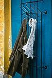KUHEIGA Stabile Garderobe/Wandgarderobe aus Schmiedeeisen, Schwarz