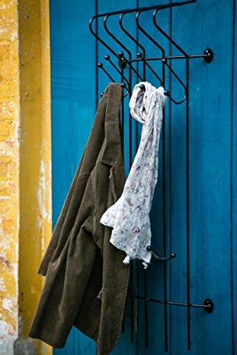 Stabile Garderobe  Wandgarderobe aus Schmiedeeisen, Schwarz