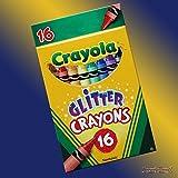 B-Creative Crayola 16 Glitzer Wachsmalstift-nicht toxische funkelnde Farben