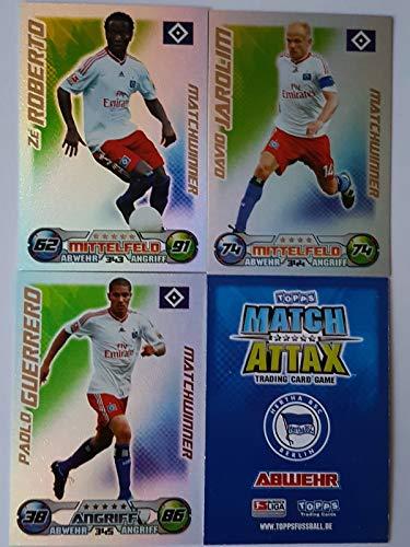 Match Attax Topps 2009 2010 - Trading Cards alle 3 Matchwinner: Hamburg: Ze Roberto, Jarolim, Guerrero (Topps-fußball-2010)