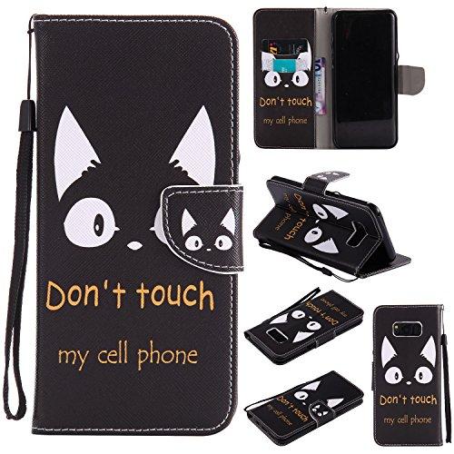 Cozy Hut Samsung Galaxy S8 Plus Hülle, PU Leder Flip Wallet im Bookstyle mit Standfunktion Karteneinschub und Magnetverschluß Etui Schutzhülle für Samsung Galaxy S8 Plus - Katzenohren