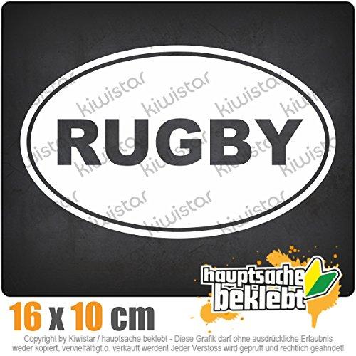 Rugby 18 x 11 cm IN 15 FARBEN - Neon + Chrom! Sticker Aufkleber