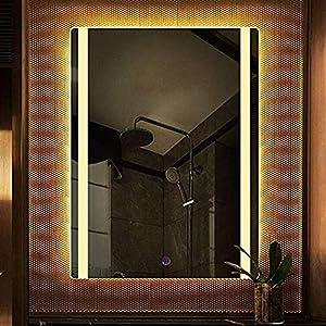 Gjrff Badezimmerspiegel LED-Licht Licht Wandhalterung Dressing Spiegel Schlafzimmer Explosionsgeschützter Anti-Fog-HD Spiegel