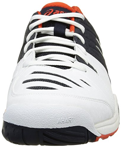 Tennis bianco Bianche Asics Captain Da 10 Maschile Scarpe challenger Sky Gel 0150 Arancio WqIqY8