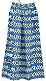 Maisha Fashions Women's cotton Ethnic Bottom (Blue and White, 32)