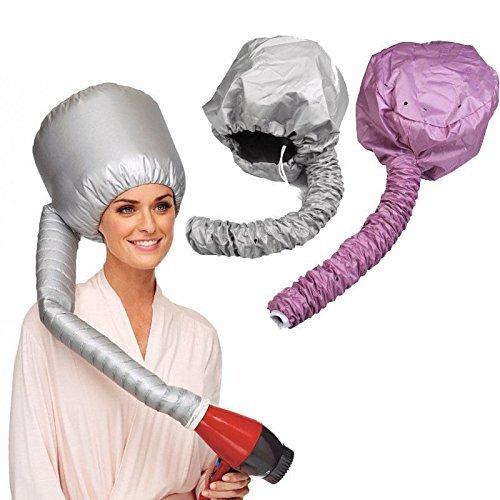 vinallo 2Pcs tragbar Sicher Frauen Haartrockner Soft Motorhaube Kapuze Befestigung Haircare Salon Friseur Hat Cap (Remasuri + Pink) (Cap-haar-dampfer)