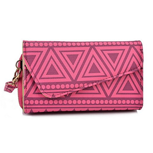 Kroo Pochette/étui style tribal urbain pour Samsung Galaxy Ace Style White with Mint Blue Rose