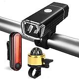 Best Cables campana de la bici - SUKILIU Bicicletas Luces Traseras De Faros, USB Recargable Review