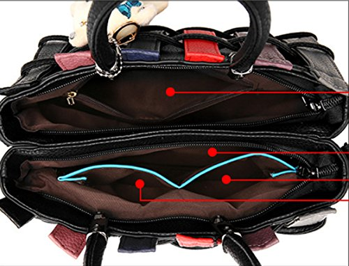 Sacchetto della borsa del Crossbody del messaggero di Tote della borsa della spalla della borsa delle nuove donne Rosa
