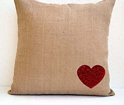 Amore Beaute Handmade Customisable Decorative Cushion Cover In Natural Jute