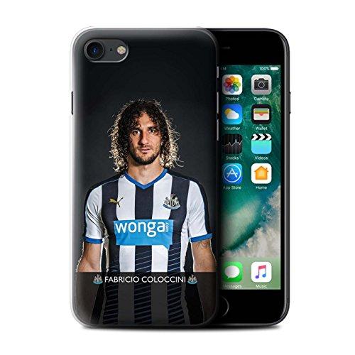 Officiel Newcastle United FC Coque / Etui pour Apple iPhone 7 / Townsend Design / NUFC Joueur Football 15/16 Collection Coloccini