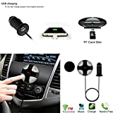 FM Transmitter, eZoneUK Car MP3 Player Universal FM Transmitter Bluetooth 4.2 Hands free Car Kit Wireless Radio Stereo Audio Adapter with 5V 2A USB Charger Digital LED display, Support TF card For iPhone, iPad, iPod, HTC, Galaxy, MP3, MP4 and Most Devices with Bluetooth Function