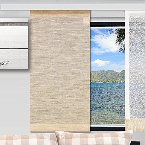 SeGaTeX home fashion Caravan-Flächenvorhang Marian 20cm Breit | Höhe 60 -120cm Nach Maß | Beige Flächengardine für Caravan Wohnwagen Wohnmobil