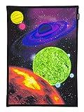 PSYWORK Schwarzlicht Stoffposter Neon Space Journey One, 0,5x0,7m