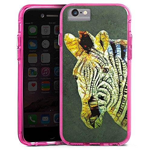 Apple iPhone X Bumper Hülle Bumper Case Glitzer Hülle Zebra Dschungel Farbe Bumper Case transparent pink