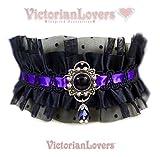 Collarino Elegant Gothic Dark Victorian Lolita Gotico Vittoriano Collana Lady Dama Romantico Vampiro